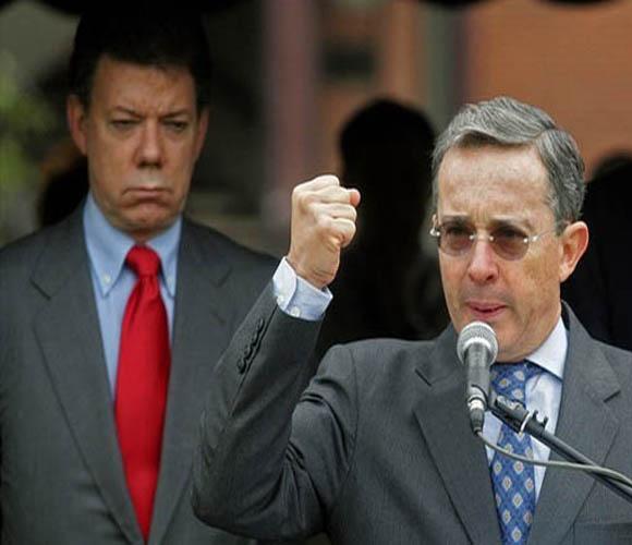 Alvaro Uribe y Juan Manuel Santos