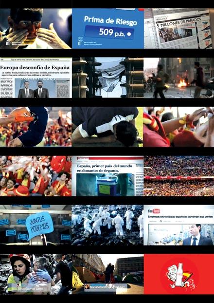 """El anuncio de Coca-Cola para la Eurocopa ensalza la idea del """"país maravilloso"""" que se sabe levantar de las patadas en el pecho de los mercados."""