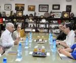 Recibe Machado Ventura a delegación del Partido Comunista de España