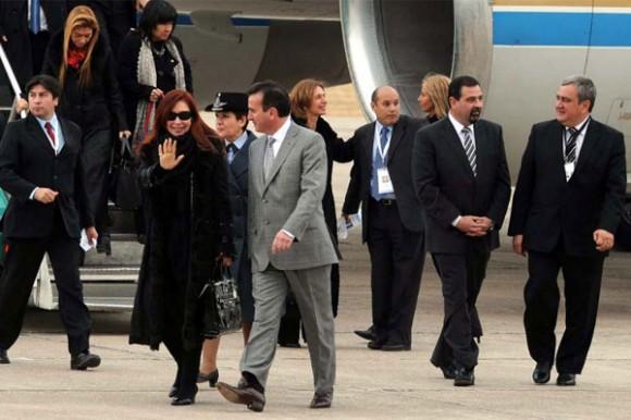 Llegada de Cristina a Mendoza.