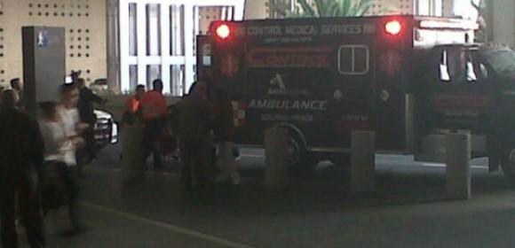 Balacera en el AICM deja dos muertos. Foto: Milenio