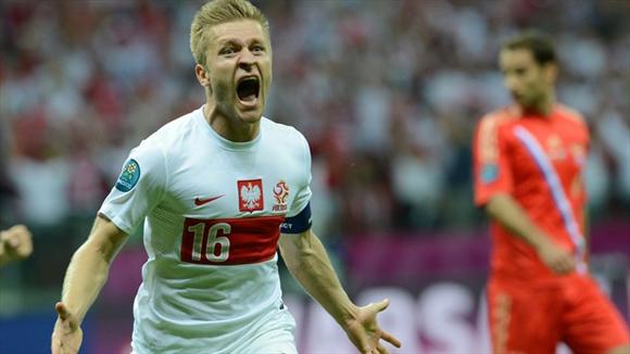 La respuesta polaca tuvo un largo apellido: Blaszczykowski. Fotos: UEFA.