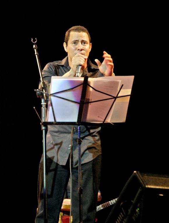 Israel Rojas, vocalista y compositor del dúo Buena Fe. Foto: Anabel Díaz Mena/Cubadebate