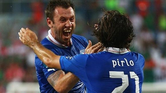 Cassano celebra su gol. Foto: UEFA.