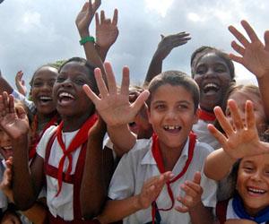 Niños en Cuba. Foto: Roberto Ruiz.