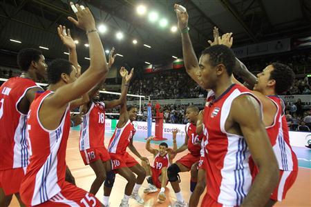 El equipo cubano en República Dominicana.