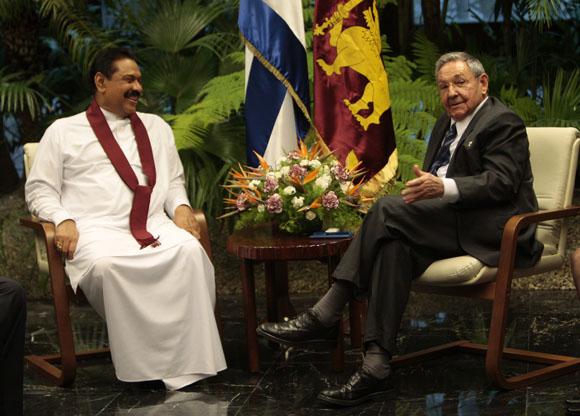 Destaca prensa de Sri Lanka visita de presidente Rajapaksa a Cuba