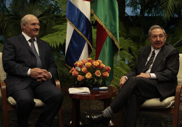 Conversaciones Oficiales entre Raúl Castro presidente cubano  y su homólogo de Belarús, Alexander Lukashenko, en el Palacio de la Revolución. Foto: Ismael Francisco/Cubadebate.