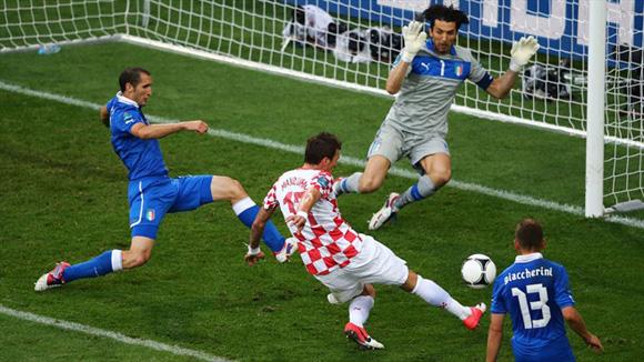 Mandzukic llegó a tres goles en la Euro. Foto: UEFA.