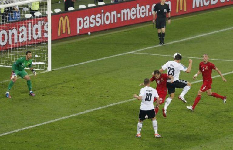 Mario Gómez decidió el partido con un golazo de cabeza. Foto: Reuters.