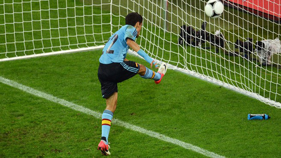 Navas marcó en fuera de juego. Foto: UEFA.