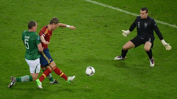 El Niño puso el 3-0. Foto: UEFA.