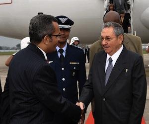 Raúl Castro en Río