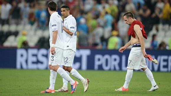 La derrota, encarnada en Ribéry. Foto: UEFA.