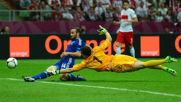 El empate griego sale del botín de Salpingidis. Foto: UEFA.
