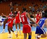 Celebración del equipo cubano