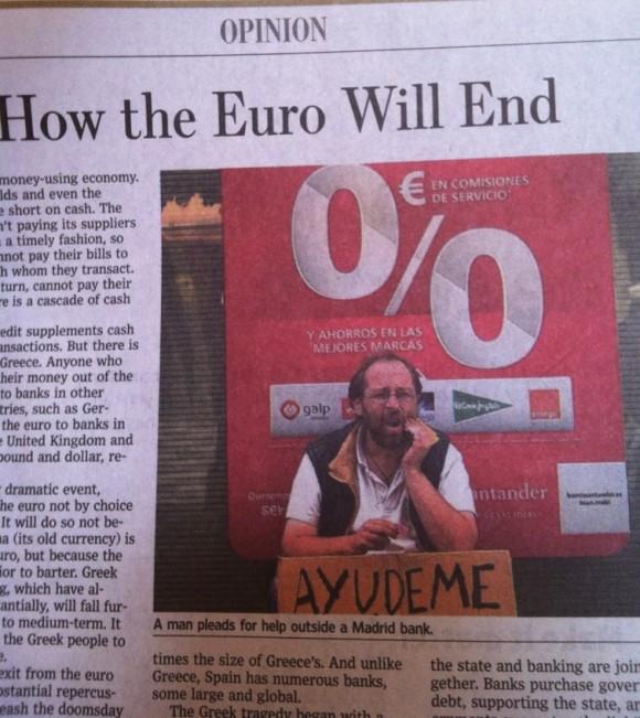 Imagen de mendigo español en el Wall Street Journal.