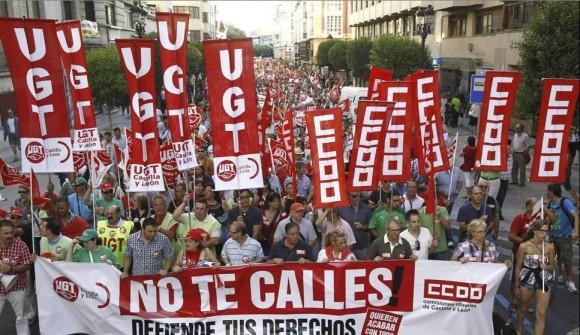 Imagen de la protesta en Burgos. Foto: Santi Otero/EFE.