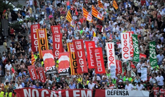 Imagen de la manifestación en Barcelona. Foto: Lluis Gene/AFP.