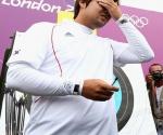 En la primera competencia de los Juegos Olímpicos de Londres, Im Dong Hyun quebró el récord mundial de 72 flechas, establecido por él mismo el pasado 2 de mayo en Antalaya, Turquía. Foto: Daylife