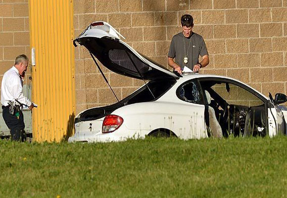 El auto del sospechoso. Foto: Huffington Post