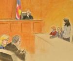 Boceto del juicio a James Holmes por el asesinato de Denver. Foto: EFE/JEFF KANDYBA