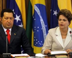 Hugo Chávez y Dilma Rousseff