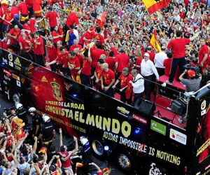 Se espera la llegada del equipo español a las 3 pm