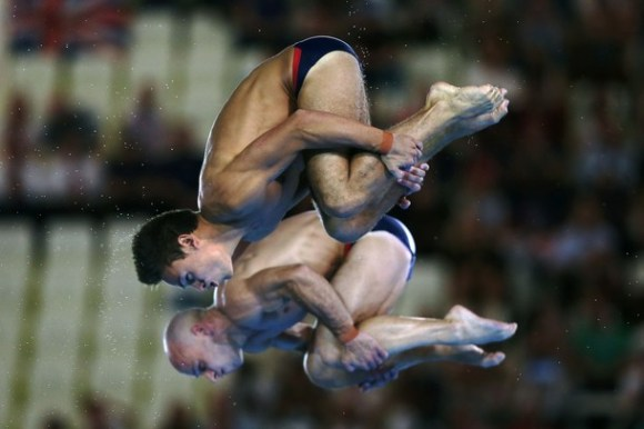 Tom Daley y Peter Waterfield de Gran Bretaña. Foto: Getty Images