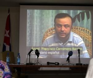 Ángel Carromero en el vídeo difundido por Cuba. Foto: Efe