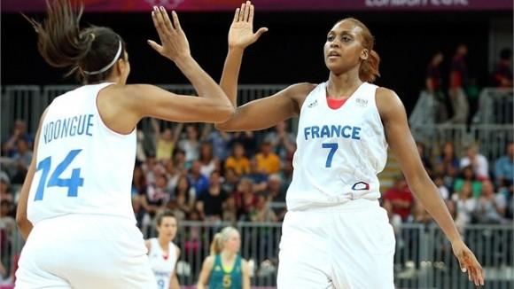 El equipo femenino francés de baloncesto sorprendió a las favoritas australianas