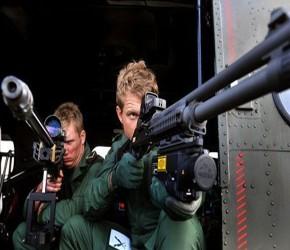 Ejercicio de seguridad con francotiradores del Ejército, efectuado el viernes