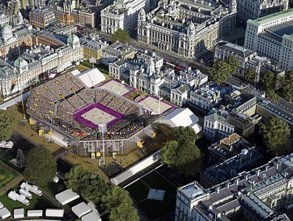 El Horse Guards Parade será la sede del voley de playa y está ubicado frente al Palacio de Buckingham.