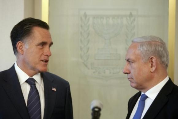 Mitt Romney y Netanyahu. Foto: Reuters