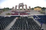 La Plaza Mariana Grajales está lista, el 25 de julio de 2012, para celebrar el acto nacional por el el aniversario 59 del asalto a los cuarteles Moncada y Carlos Manuel de Céspedes. AIN  FOTO/Juan Pablo CARRERAS