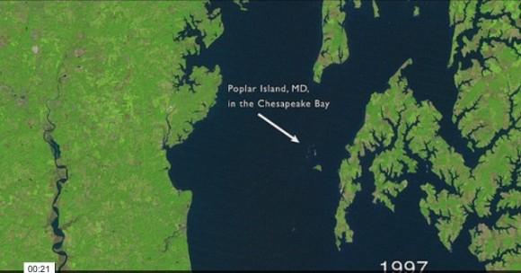 El satélite Landsat de la NASA tomó esta instantánea en 1997.
