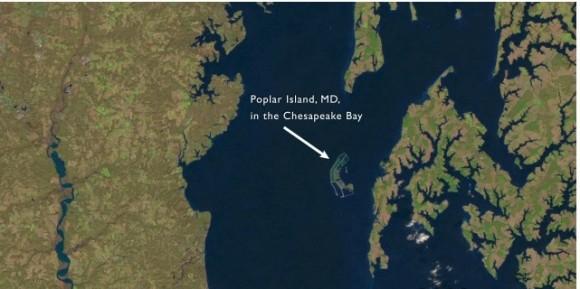 El satélite Landsat de la NASA tomó esta instantánea en  el 2000.