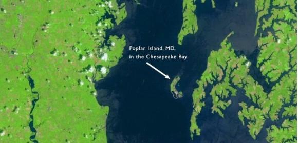 El satélite Landsat de la NASA tomó esta instantánea en 2011