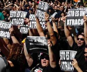 Represión policial tras manifestaciones en ciudades españolas