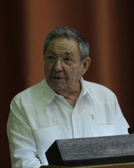 Raúl Castro, presidente de Cuba, en su discurso de clausura de la sesion del parlamento cubano. Foto: Ismael Francisco/Cubadebate.