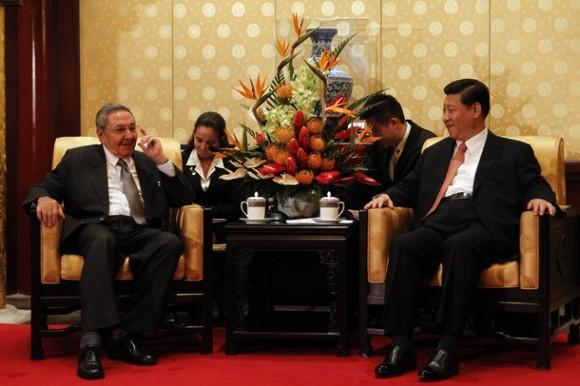 En el encuentro con Xi Jinping. Foto: Getty Images