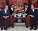 Este viernes, el presidente cubano departió con Wen Jiabao.