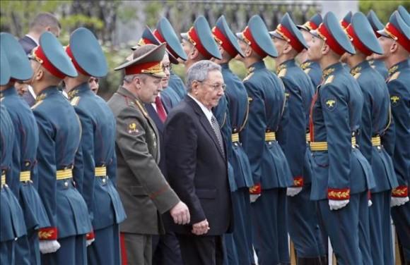 Raúl en Rusia. Foto: ITAR TASS
