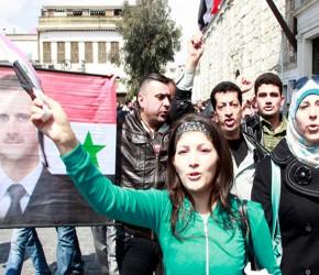Partidarios de Al-Assad defienden su gobierno