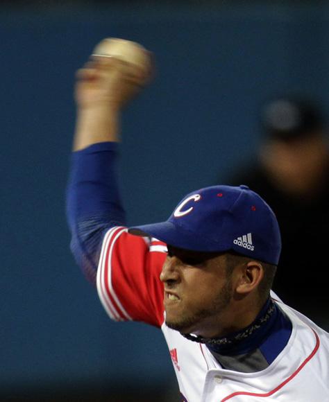 Antonio Romero debuto ayer con el equipo Cuba. Foto: Ismael Francisco/Cubdebate.