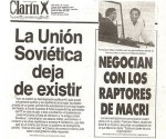 Titular del periódico El Clarín, tras la caida de la URSS