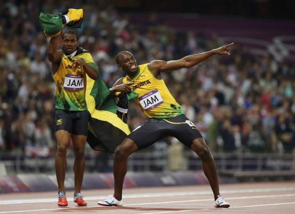 Bolt y Blake. Foto: Reuters