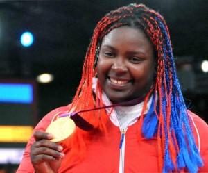 La judoca cubana Idalys Ortiz alcanzó hoy la gloria olímpica con su medalla de oro en los más de 78 kilogramos de los XXX Juegos Olímpicos de Londres, en el Centro de Exposiciones ExCel, en los XXX Juegos Olímpicos Londres 2012, en Inglaterra, el 3 de agosto de 2012. AIN FOTO/Marcelino VAZQUEZ HERNANDEZ/