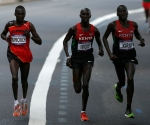 Stephen Kiprotich ganó hoy con autoridad la medalla de oro en el maratón masculino