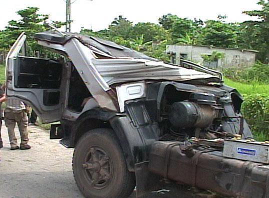 Accidente en Placetas. Foto: Telecubanacán